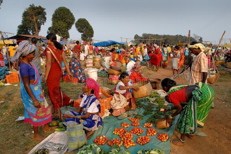 Mercado tribal indio foto de archivo