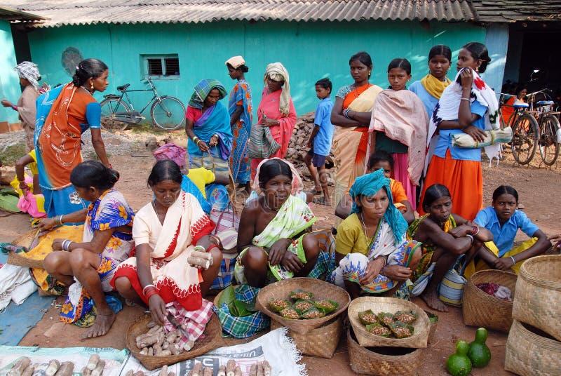 Mercado tribal indio foto de archivo libre de regalías