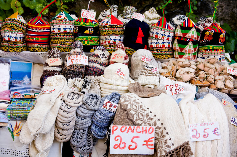 Mercado turístico al aire libre en la isla de Madeira foto de archivo