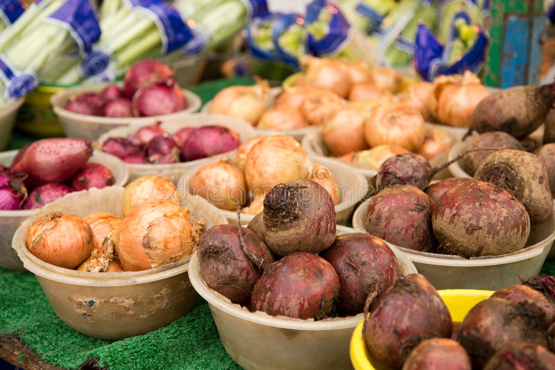 Mercado vegetal foto de stock