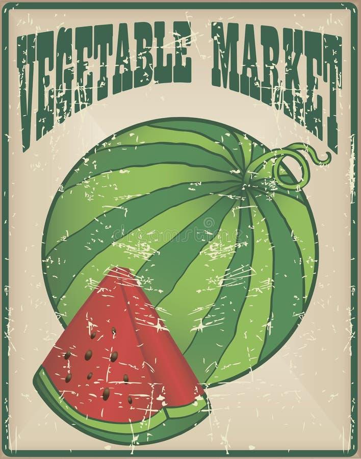 Mercado vegetal ilustração royalty free