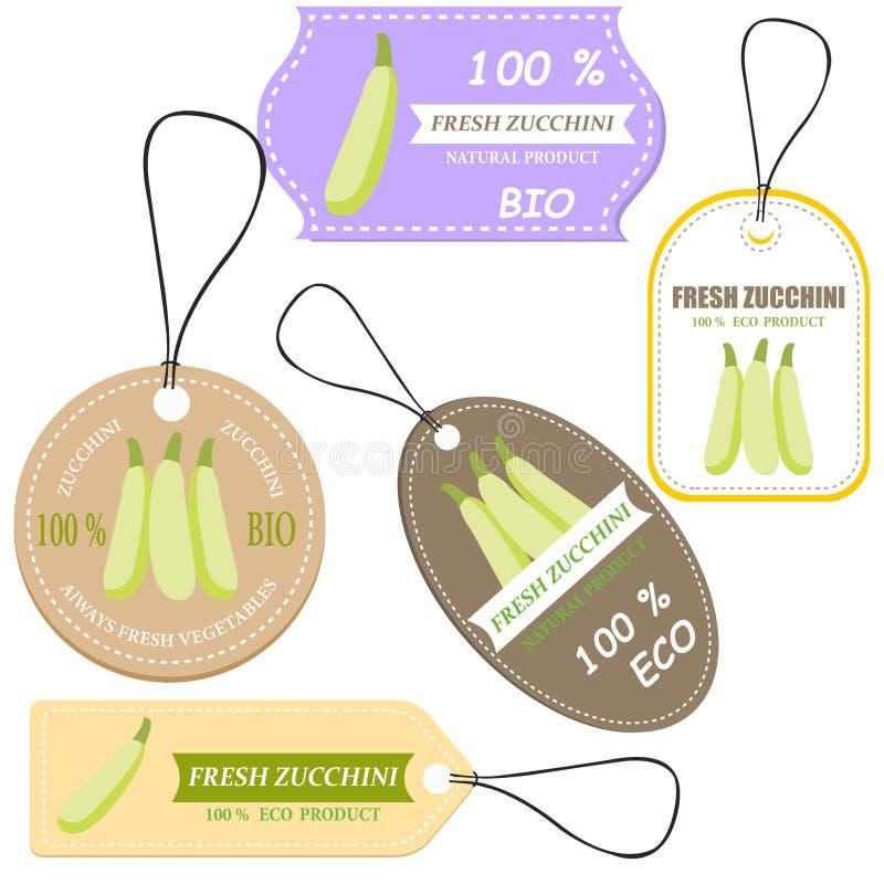 Mercado vegetal da etiqueta e da exploração agrícola ilustração royalty free