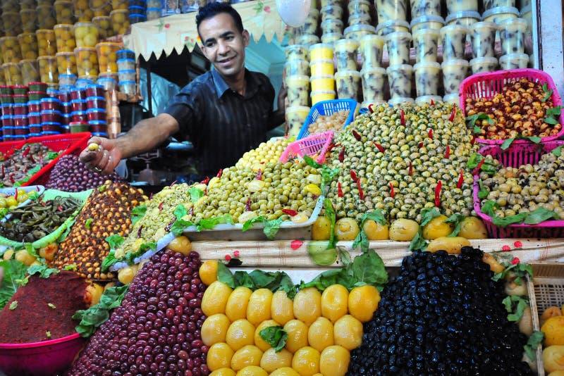 Mercado verde-oliva em Marrocos imagens de stock royalty free