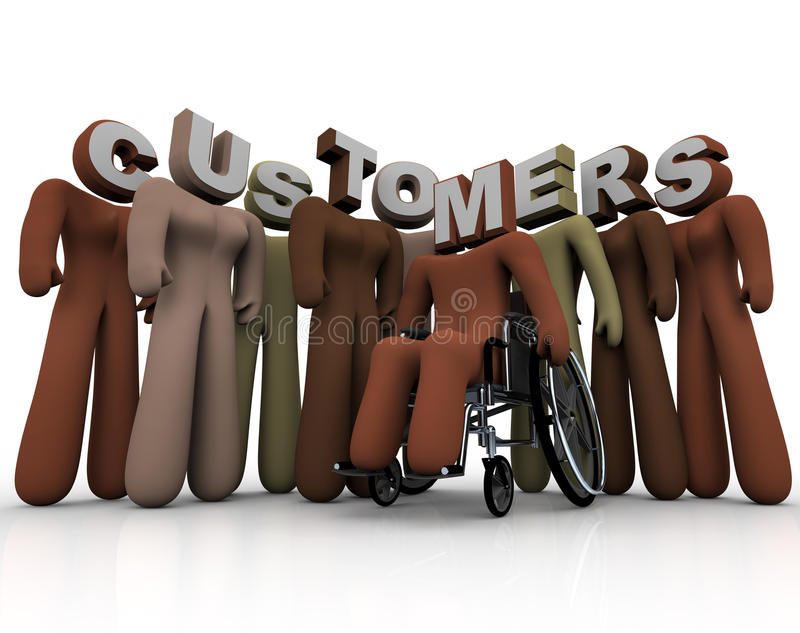 Mercado visado do grupo de pessoas diverso dos clientes ilustração royalty free