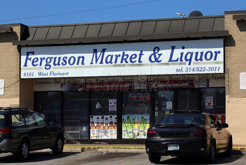 Mercado y licor de Ferguson imágenes de archivo libres de regalías