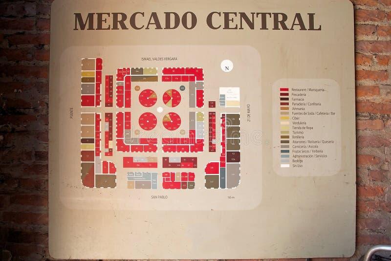 Mercado-Zentrale in Santiago de Chile, Chile stockfoto