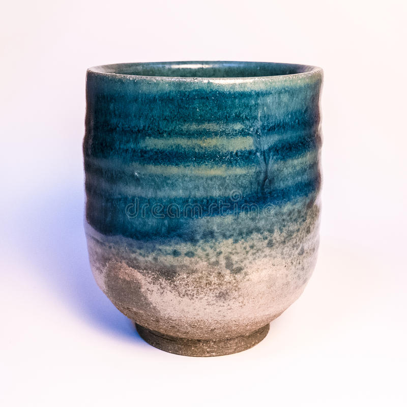 Mercadoria feito a mão japonesa da cerâmica de Tokoname foto de stock