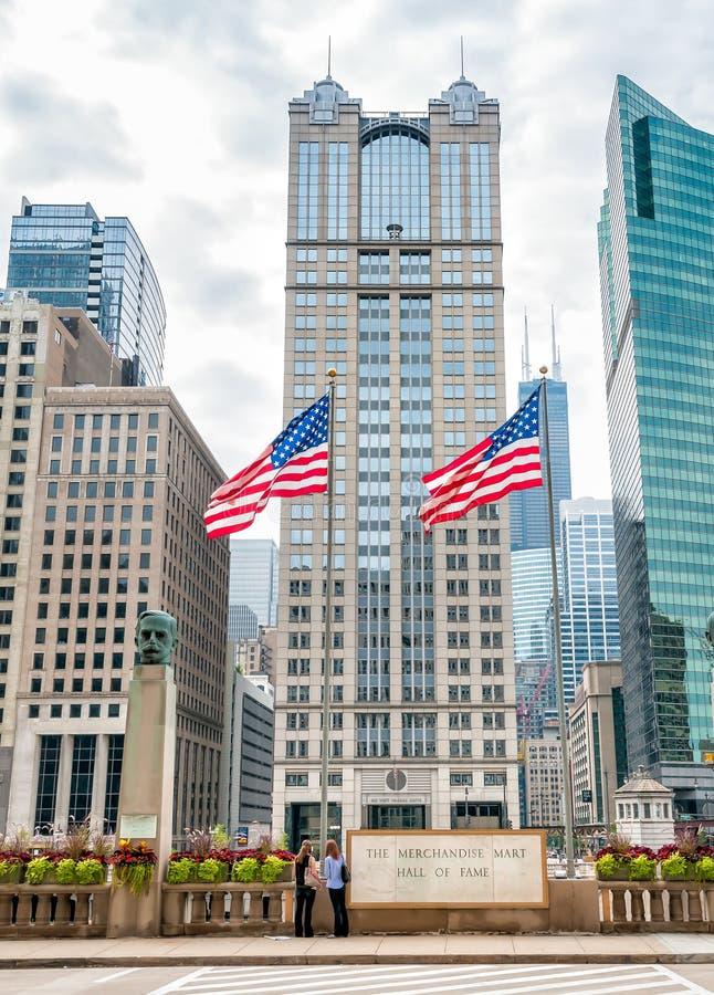 A mercadoria Mart Hall da fama em Chicago fotos de stock royalty free