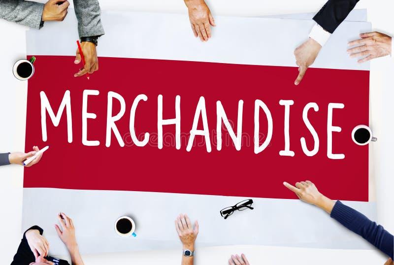 Mercadoria que introduz no mercado o conceito comercial do retalho da compra imagens de stock