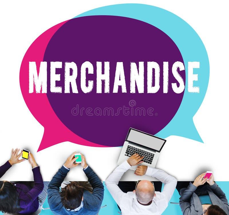 Mercadoria que introduz no mercado o conceito comercial do retalho da compra imagens de stock royalty free