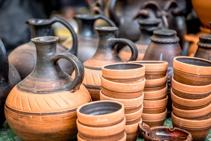 Mercadorias da argila imagens de stock royalty free