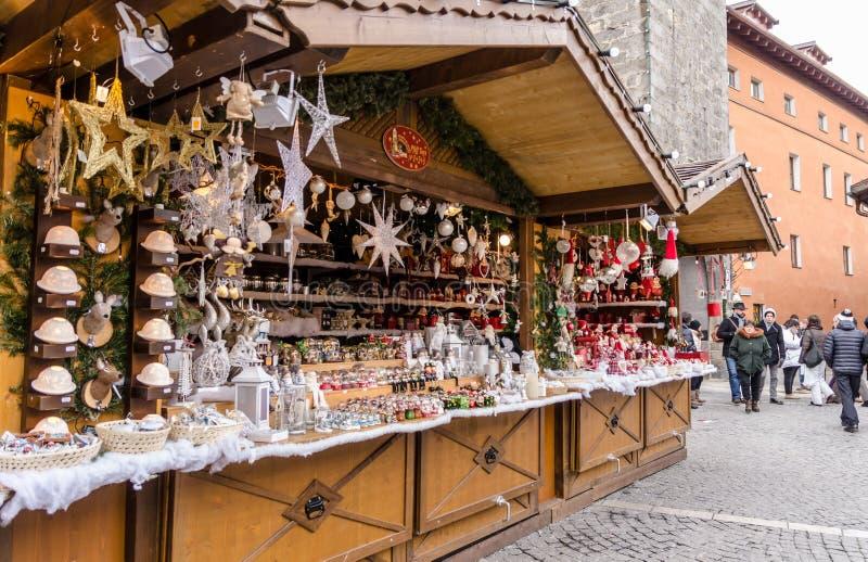 Mercados de la Navidad de Vipiteno - Italia imagen de archivo
