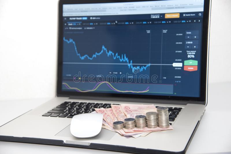 Mercados de troca Troca de moeda dos estrangeiros imagens de stock royalty free