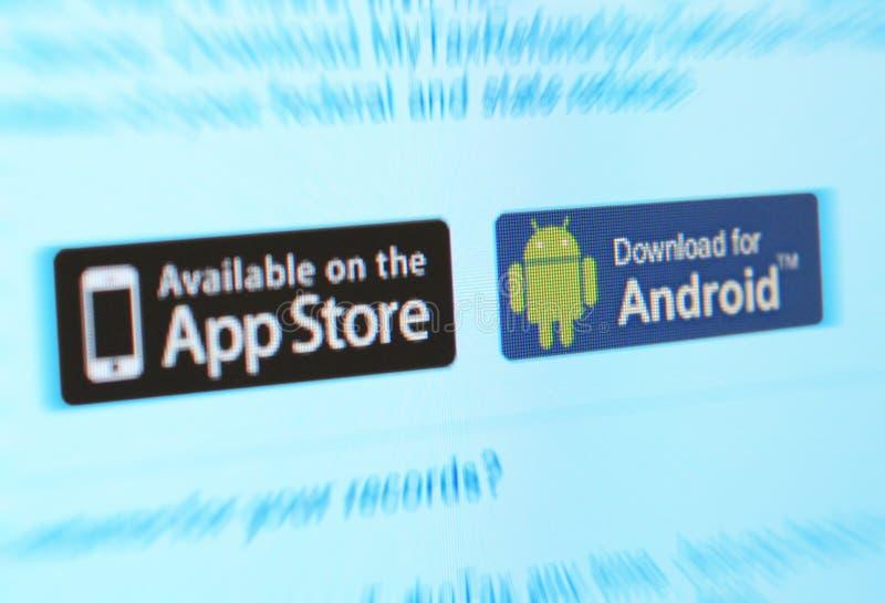 Mercados del App imágenes de archivo libres de regalías