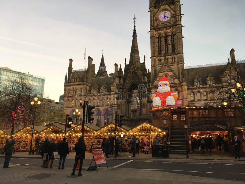 Mercados do Natal de Manchester fotos de stock royalty free