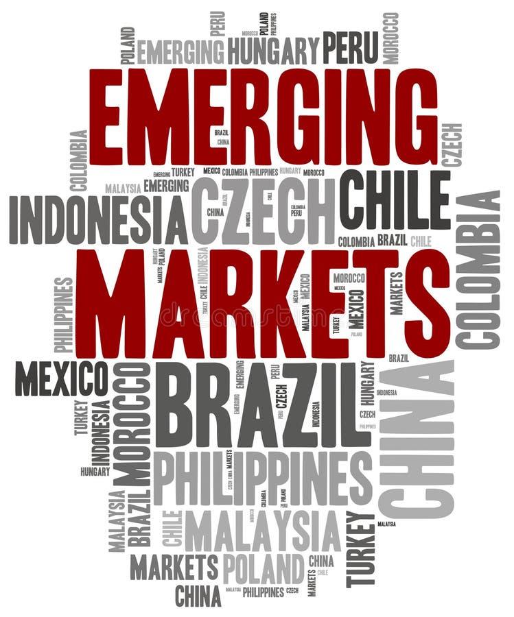 Mercados emergentes Uma COMUNICAÇÃO ilustração stock
