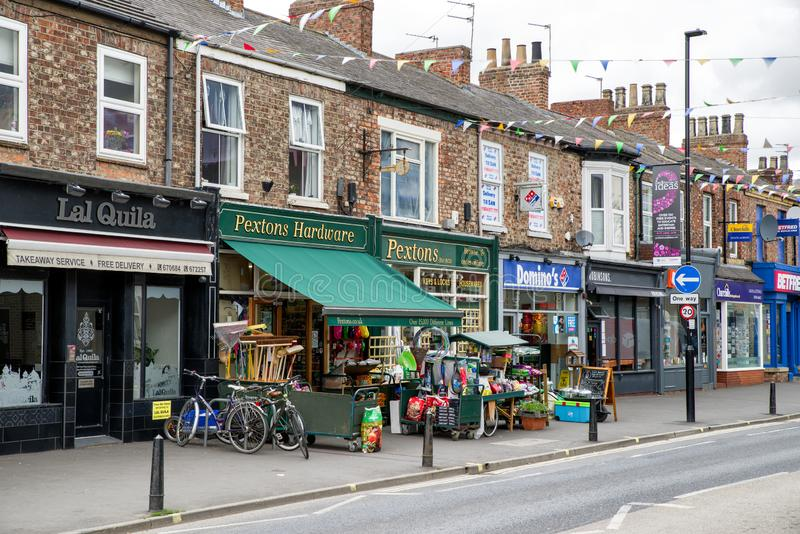 Mercados en la ciudad York, Inglaterra imágenes de archivo libres de regalías