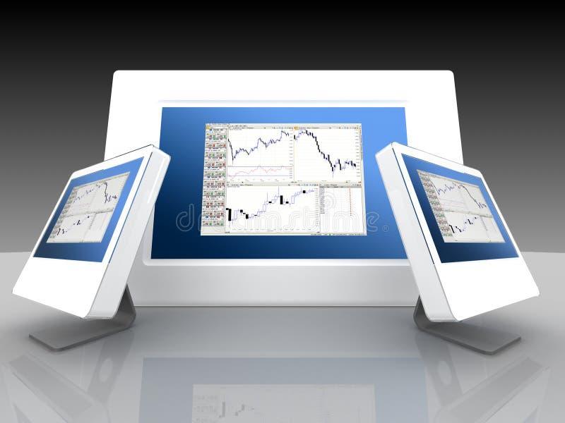 Mercados financieros y de parte libre illustration