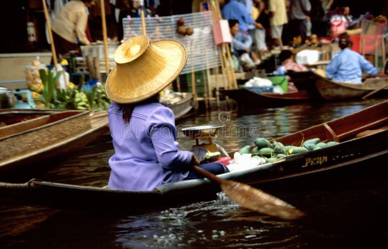 Mercados flotantes de Damnoen Saduak imagen de archivo libre de regalías