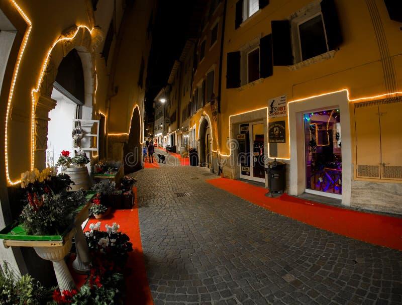 Mercados navideños y decoraciones en el país de Tenno fotografía de archivo libre de regalías