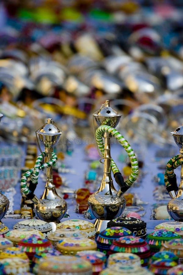 Mercancía del bazar en Túnez fotografía de archivo
