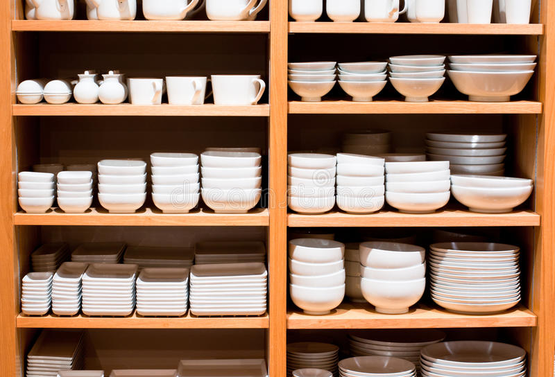 Mercancías blancas en venta imagen de archivo