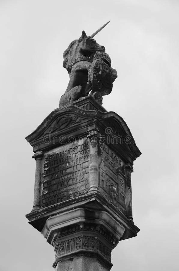 Mercat Cross. A view of the mercat cross in the medieval Royal burgh of Culross royalty free stock photo