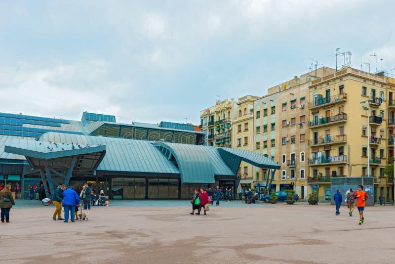 Mercat de la Barceloneta en Barcelona, España imágenes de archivo libres de regalías
