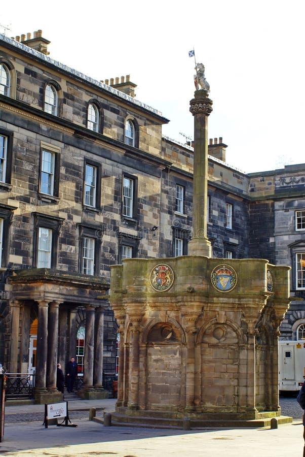 Mercat krzyż w Edynburg, Szkocja zdjęcie royalty free