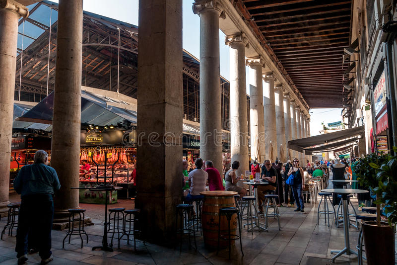 At the Mercat St. Josep La Boqueria, Barcelona, Spain royalty free stock photo