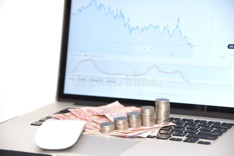 Mercati commerciali Commercio di valuta dei forex fotografia stock