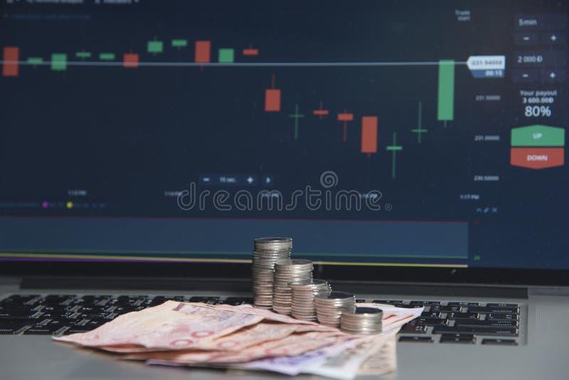 Mercati commerciali Commercio di valuta dei forex immagine stock libera da diritti