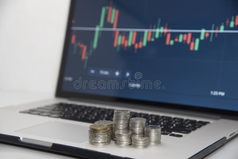 Mercati commerciali Commercio di valuta dei forex fotografie stock libere da diritti