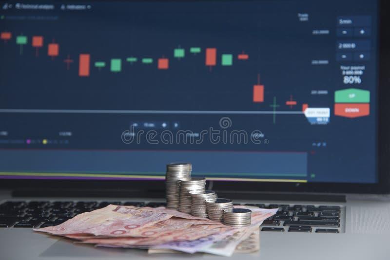 Mercati commerciali Commercio di valuta dei forex fotografie stock