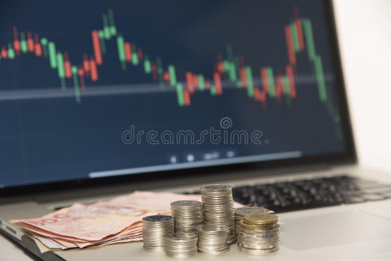 Mercati commerciali Commercio di valuta dei forex fotografia stock libera da diritti