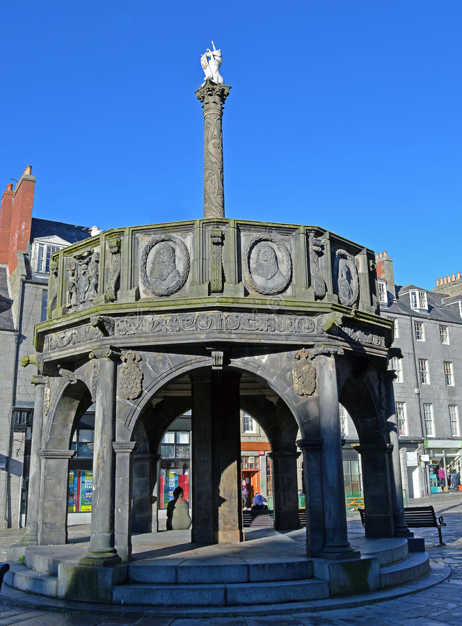Mercatkruis, Castlegate, Aberdeen royalty-vrije stock afbeeldingen