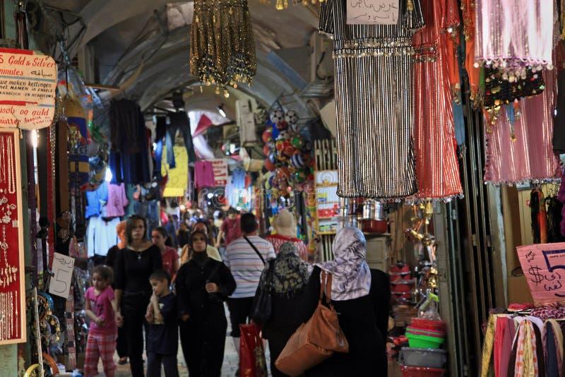Mercato arabo di Gerusalemme nella vecchia città immagini stock