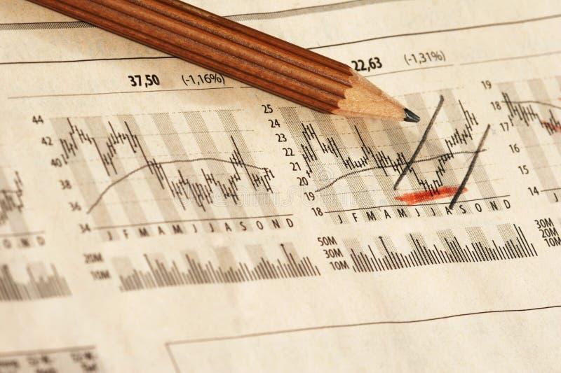 Mercato azionario fotografia stock