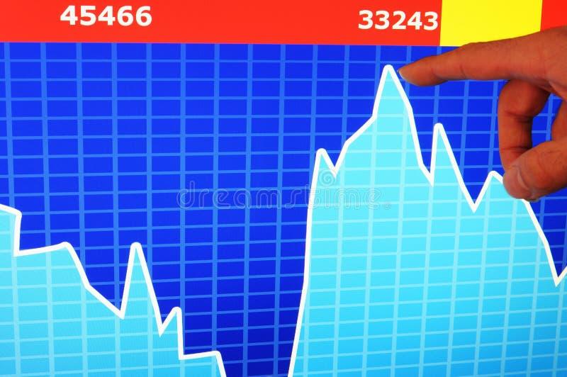 Mercato azionario finanziario fotografia stock