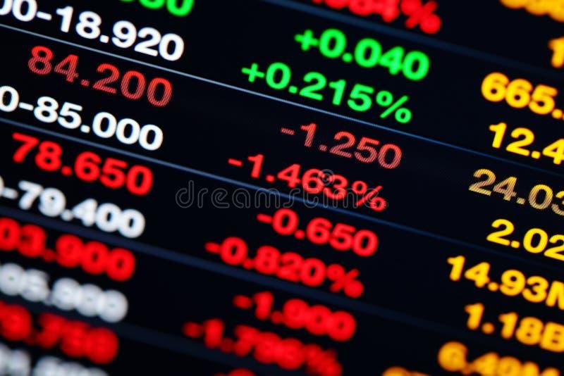 Mercato azionario su esposizione fotografia stock