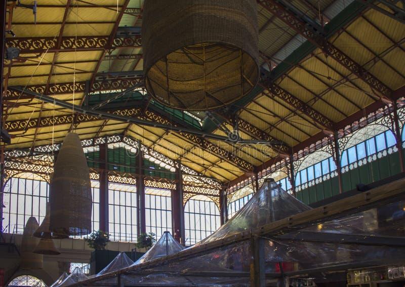 Mercato Centrale in Florence, architecturale mening stock fotografie