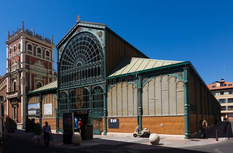 Mercato centrale a Palencia spain fotografia stock