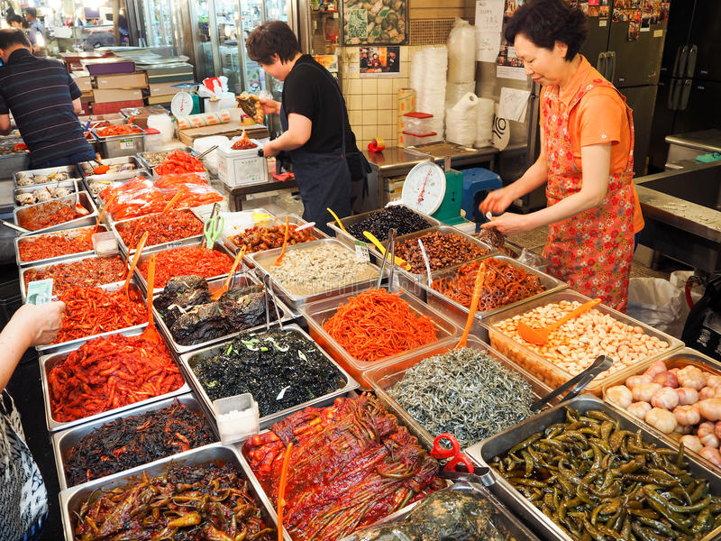 Mercato coreano dell'alimento fotografia stock libera da diritti