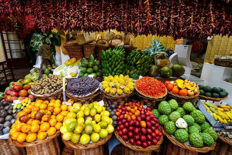 Mercato Corridoio di Funchal, Madera immagini stock libere da diritti