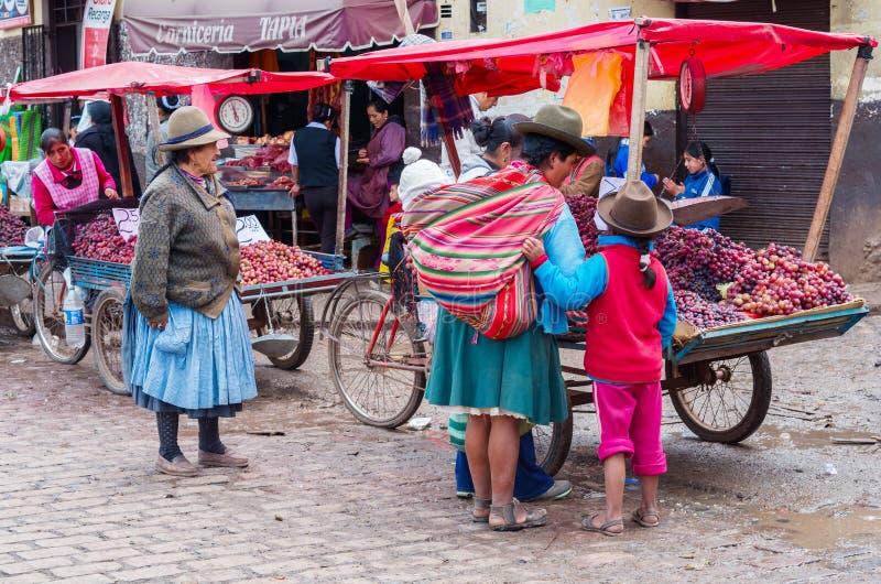 Mercato in Cusco, Perù immagini stock libere da diritti