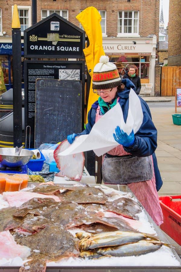 Mercato degli agricoltori della strada di Pimlico, Londra immagine stock libera da diritti