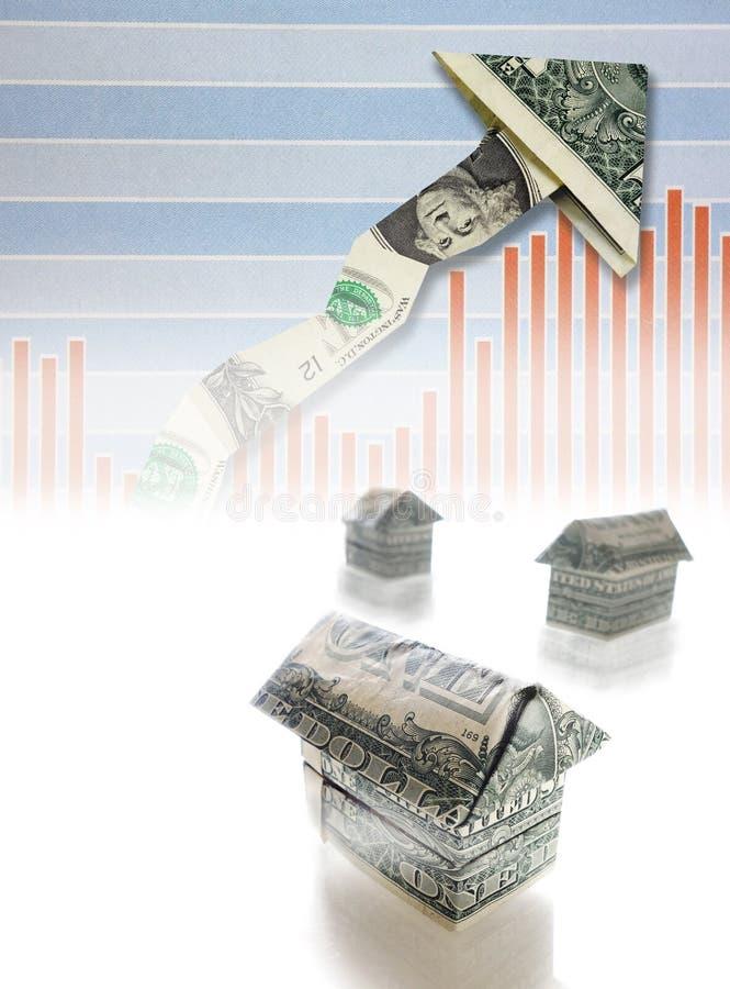 Mercato degli alloggi in aumento immagine stock