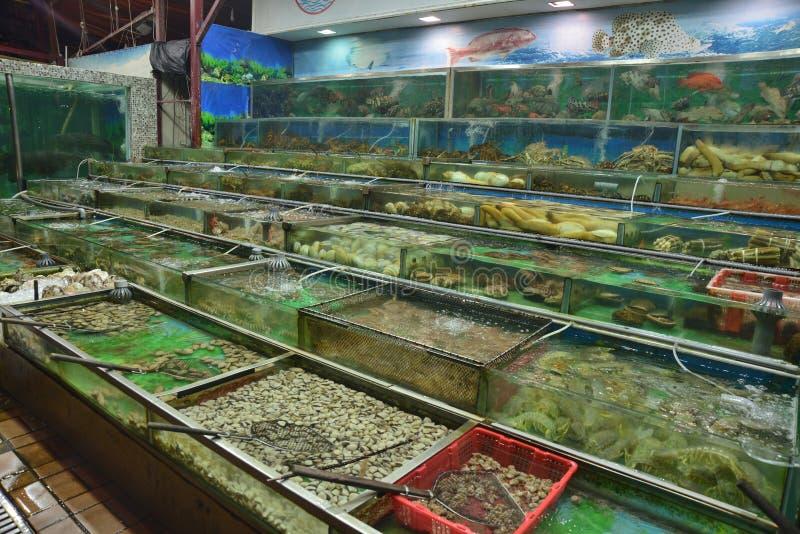 Mercato dei frutti di mare crudi fotografie stock libere da diritti