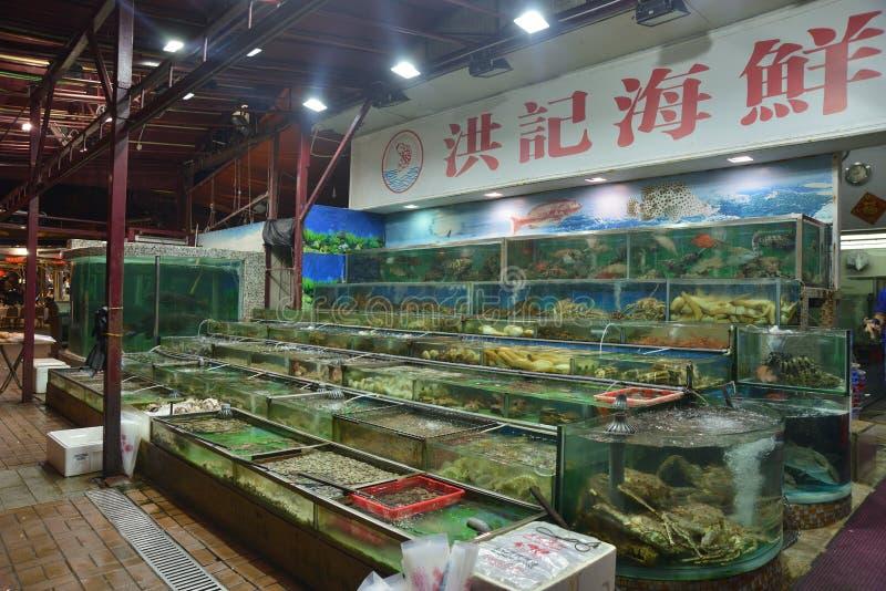 Mercato dei frutti di mare crudi fotografia stock