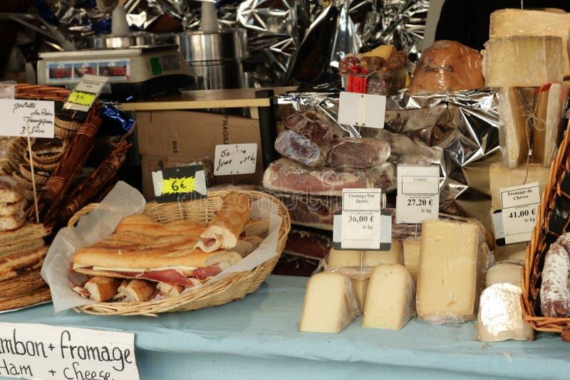 Mercato del formaggio in Francia fotografia stock libera da diritti